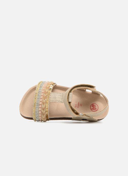 Sandales et nu-pieds NA! Alyssa Or et bronze vue gauche