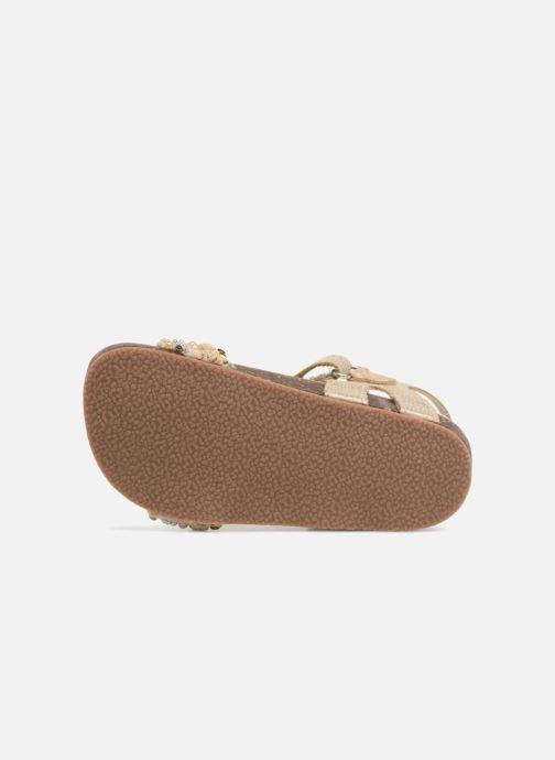 Sandales et nu-pieds NA! Alyssa Or et bronze vue haut