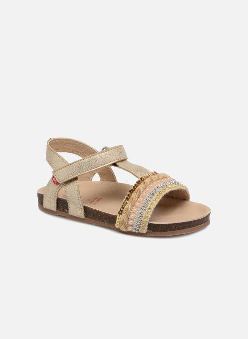 Sandales et nu-pieds NA! Alyssa Or et bronze vue détail/paire