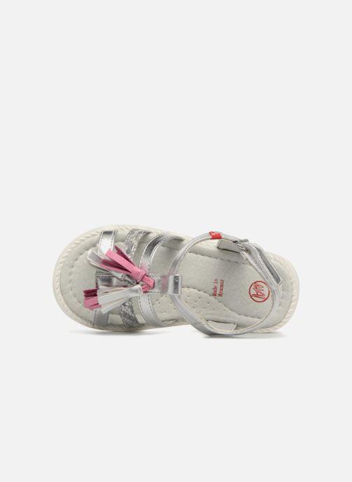 Sandales et nu-pieds NA! Api Argent vue gauche