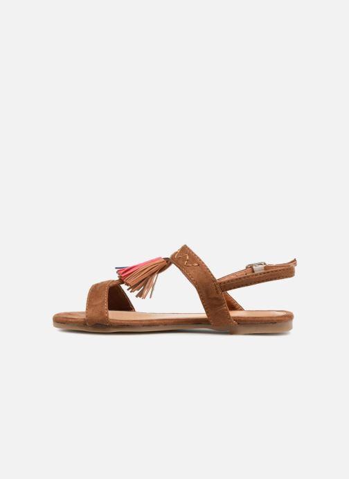 Sandales et nu-pieds NA! Santiana Marron vue face