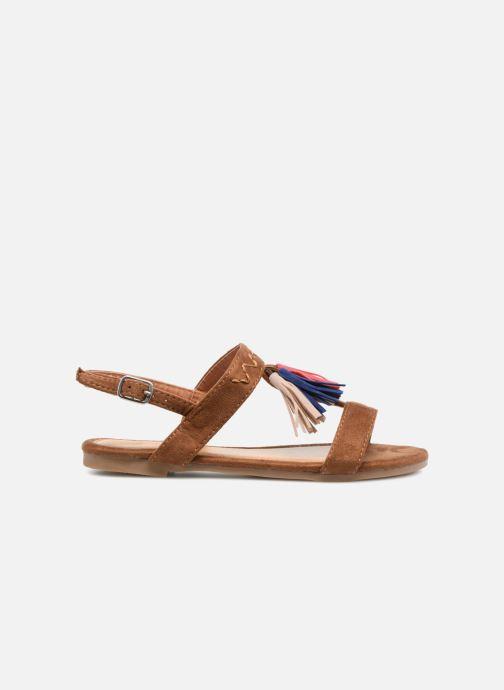 Sandales et nu-pieds NA! Santiana Marron vue derrière