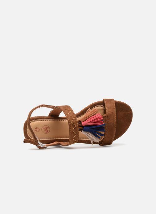Sandales et nu-pieds NA! Santiana Marron vue gauche