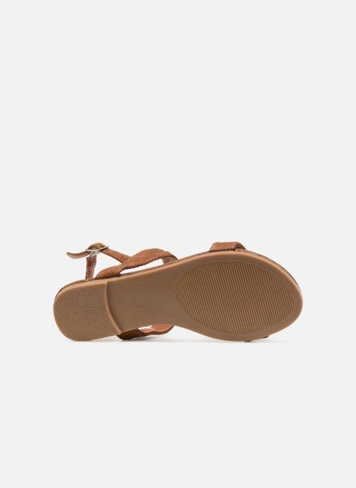 Sandales et nu-pieds NA! Santiana Marron vue haut