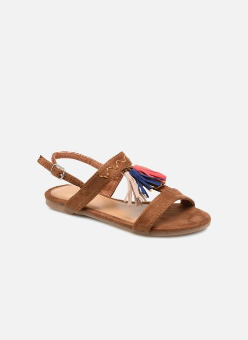 Sandales et nu-pieds NA! Santiana Marron vue détail/paire