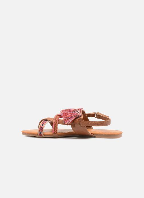 Sandales et nu-pieds NA! Sauvage Marron vue face