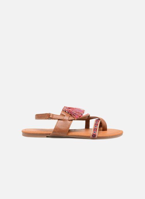 Sandales et nu-pieds NA! Sauvage Marron vue derrière