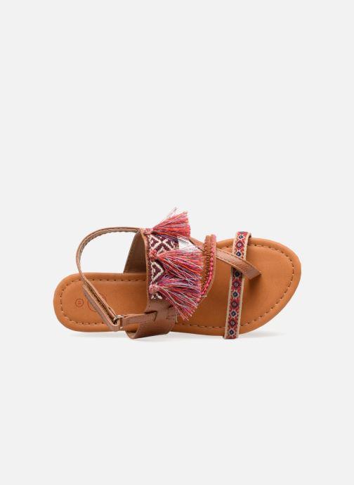 Sandales et nu-pieds NA! Sauvage Marron vue gauche