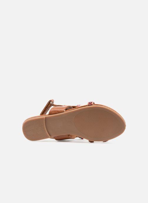 Sandales et nu-pieds NA! Sauvage Marron vue haut