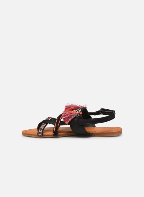 Sandales et nu-pieds NA! Sauvage Noir vue face
