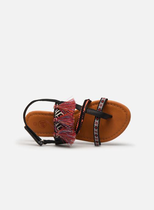 Sandales et nu-pieds NA! Sauvage Noir vue gauche