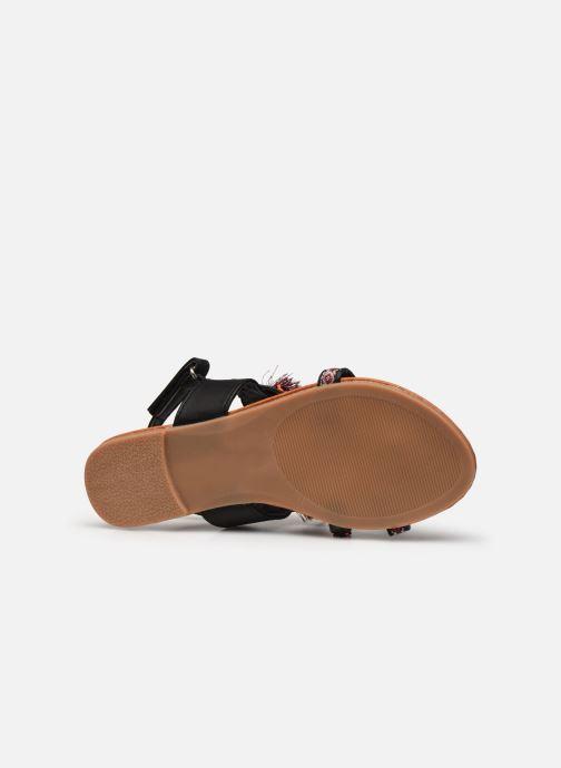 Sandales et nu-pieds NA! Sauvage Noir vue haut