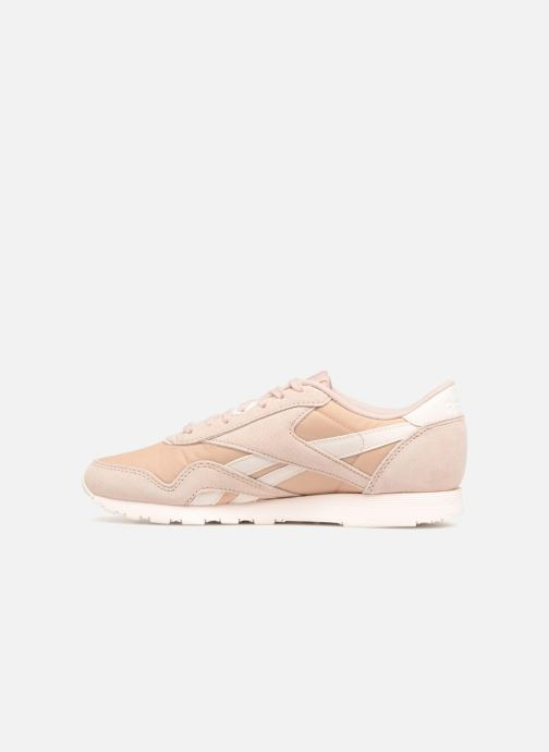 Baskets Reebok CL nylon Beige vue face