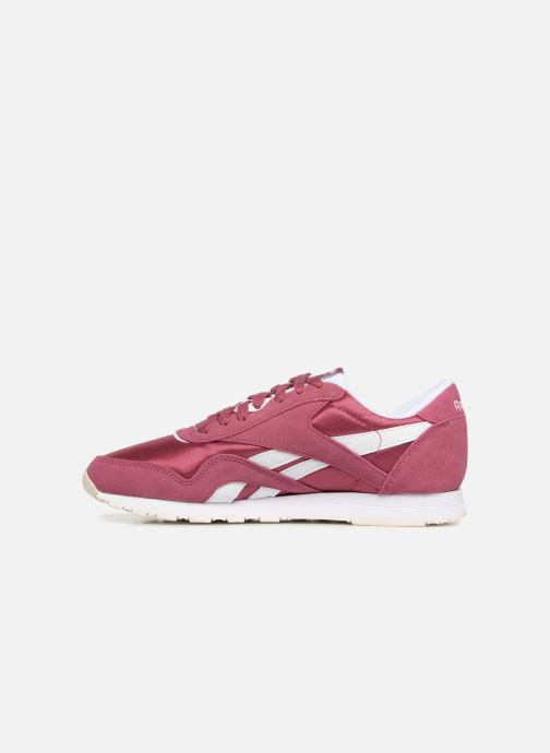 Baskets Reebok CL nylon Violet vue face