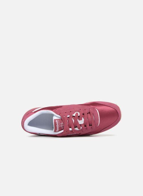 Baskets Reebok CL nylon Violet vue gauche