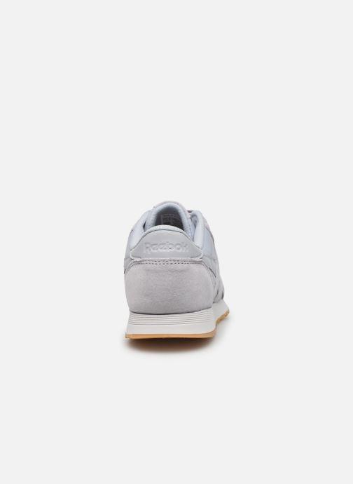 Baskets Reebok CL nylon Gris vue droite