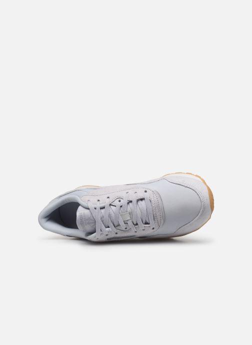 Baskets Reebok CL nylon Gris vue gauche