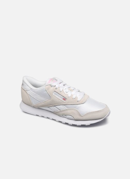 Reebok CL nylon Trainers in White at Sarenza.eu (416978)