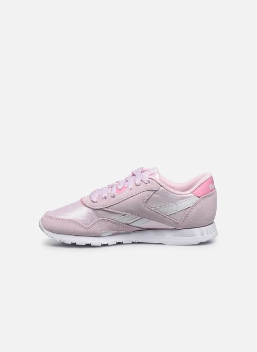 Baskets Reebok CL nylon Rose vue face