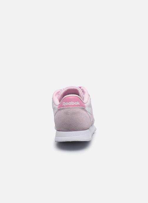 Baskets Reebok CL nylon Rose vue droite