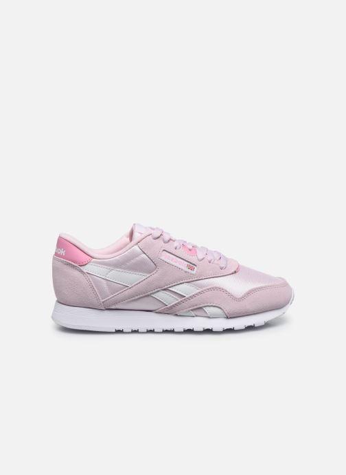 Sneakers Reebok CL nylon Rosa immagine posteriore