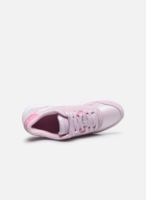 Sneakers Reebok CL nylon Rosa immagine sinistra