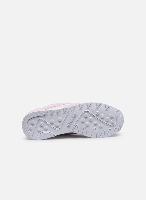 Baskets Reebok CL nylon Rose vue haut