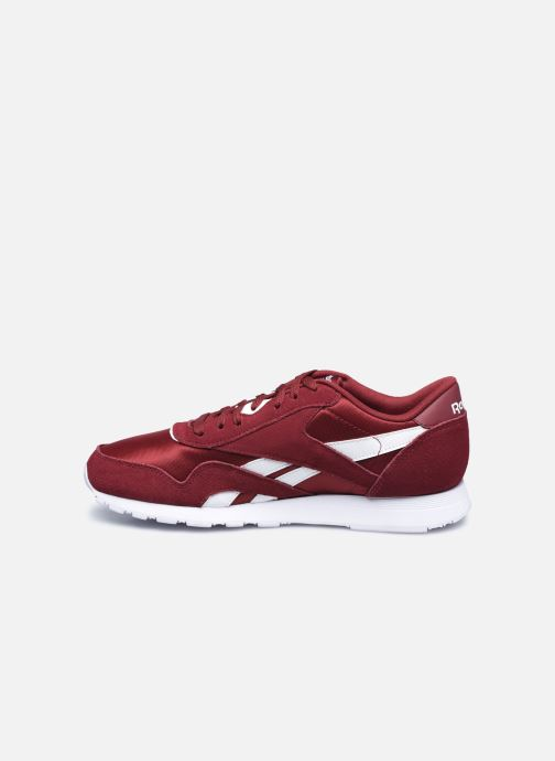 Baskets Reebok CL nylon Bordeaux vue face