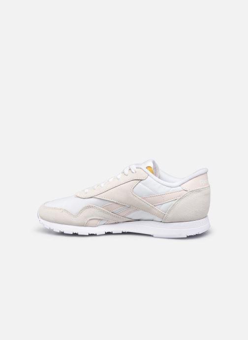 Sneaker Reebok CL nylon weiß ansicht von vorne
