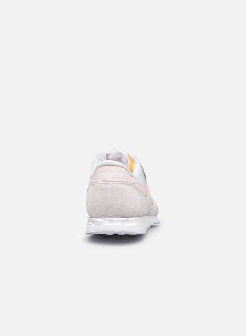 Sneaker Reebok CL nylon weiß ansicht von rechts