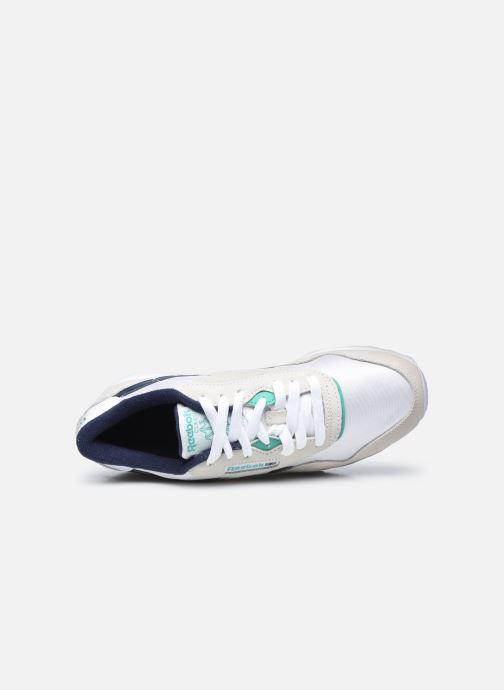 Sneaker Reebok CL nylon weiß ansicht von links