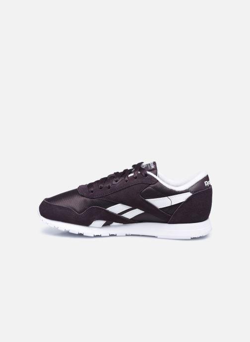 Sneakers Reebok CL nylon Nero immagine frontale