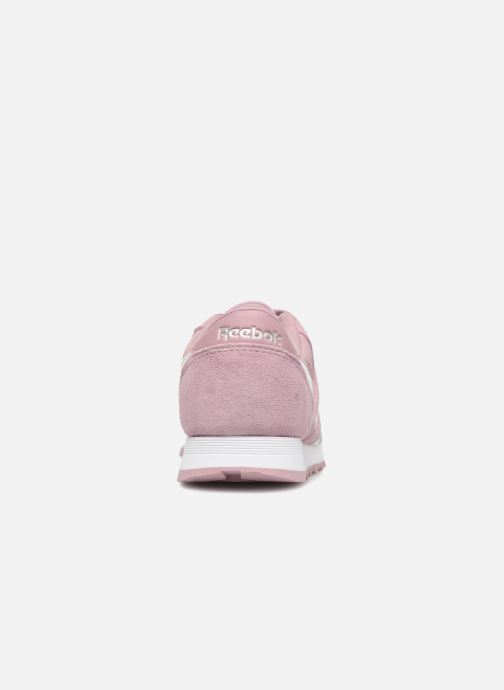 Trainers Reebok CL NYLON 1 Pink view from the right