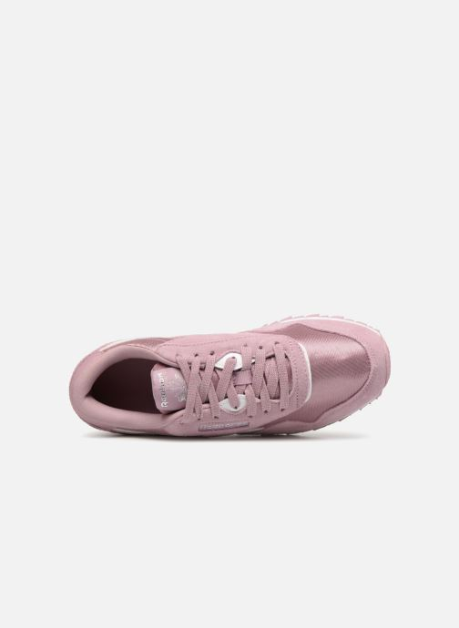Trainers Reebok CL NYLON 1 Pink view from the left