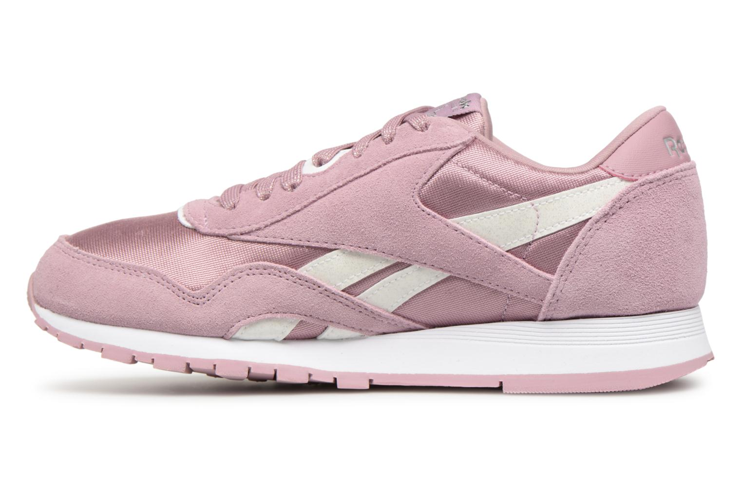 Baskets Reebok CL NYLON 1 Rose vue face