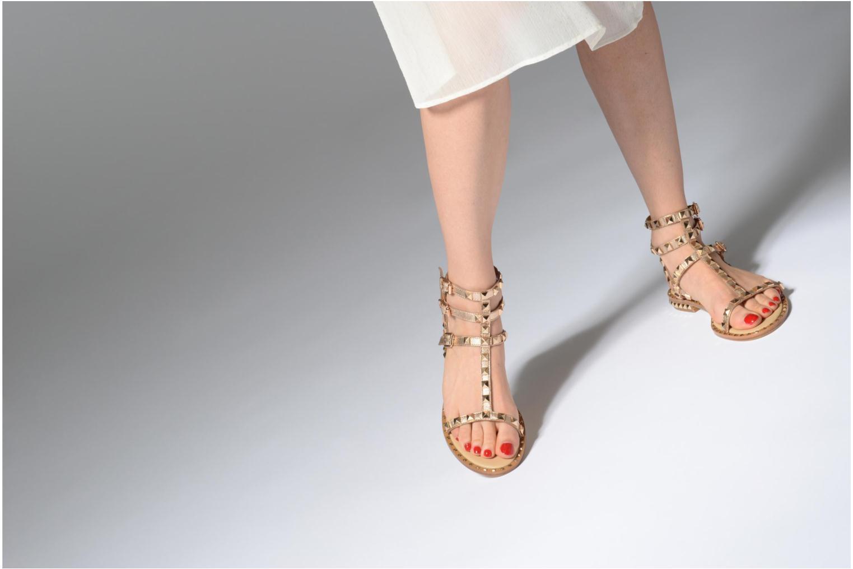 Sandales et nu-pieds Ash Poison Goat Or et bronze vue bas / vue portée sac