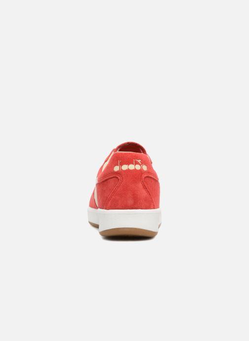 Baskets Diadora B.ELITE NUB Rouge vue droite