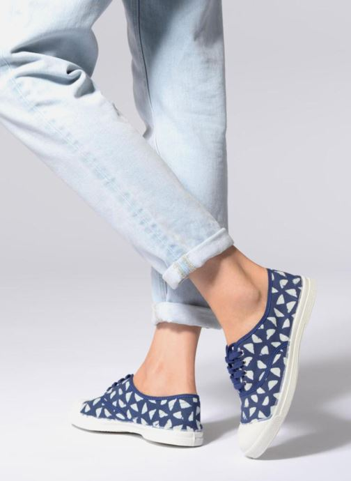 Trainers Bensimon Indigoprint Blue view from underneath / model view