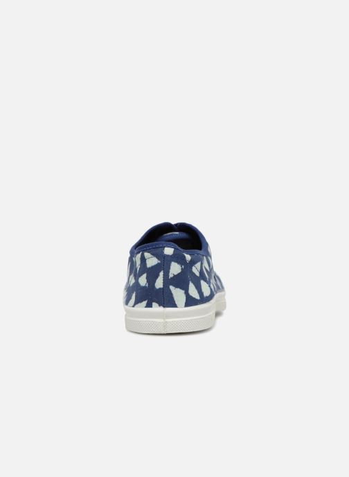 Trainers Bensimon Indigoprint Blue view from the right