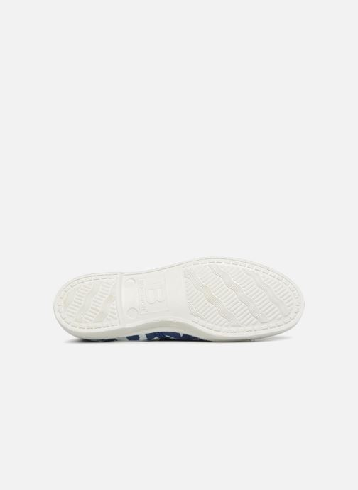 Trainers Bensimon Indigoprint Blue view from above