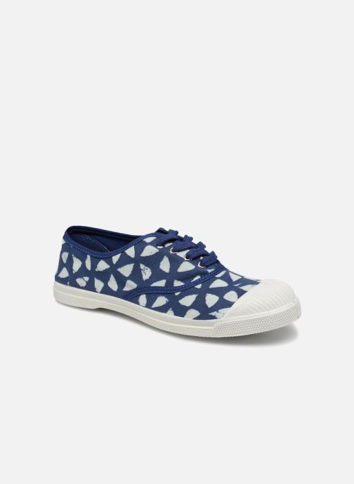 Trainers Bensimon Indigoprint Blue detailed view/ Pair view