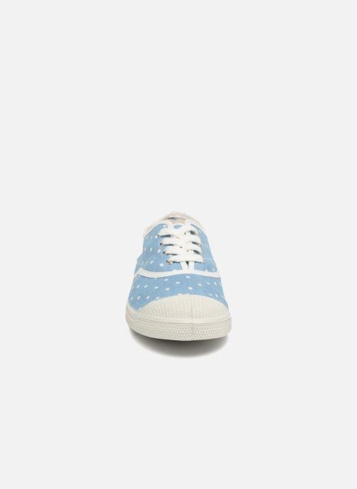 Baskets Bensimon Poisdenim Bleu vue portées chaussures