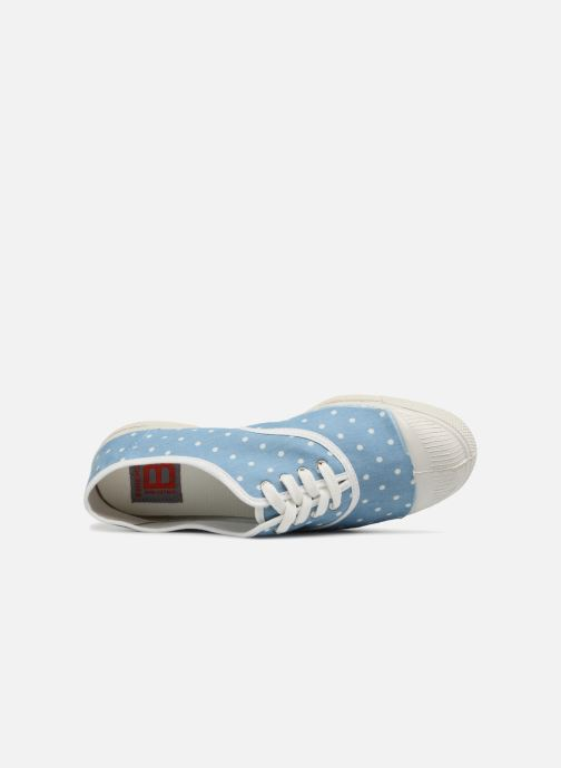 Trainers Bensimon Poisdenim Blue view from the left