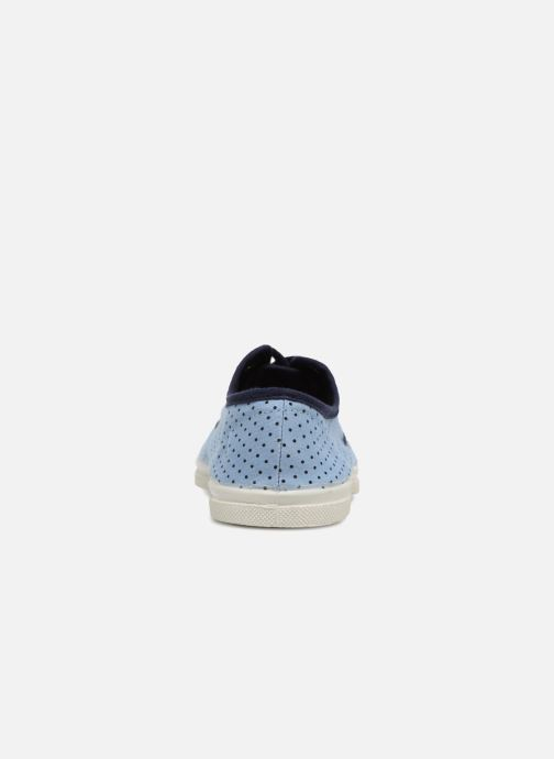 Trainers Bensimon Poisdenim Blue view from the right
