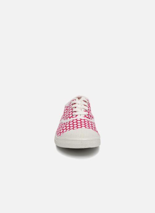 Baskets Bensimon Colorspots Rose vue portées chaussures