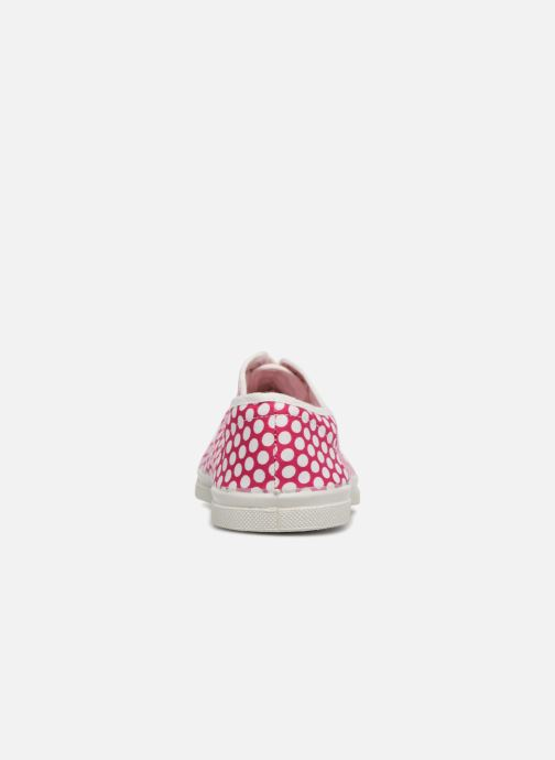 Baskets Bensimon Colorspots Rose vue droite