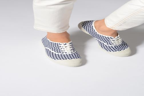 Trainers Bensimon Colorspots Blue view from underneath / model view