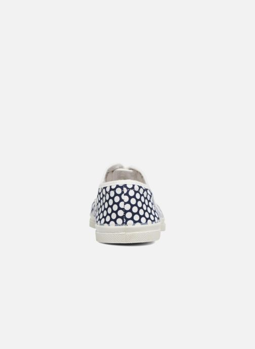 Trainers Bensimon Colorspots Blue view from the right