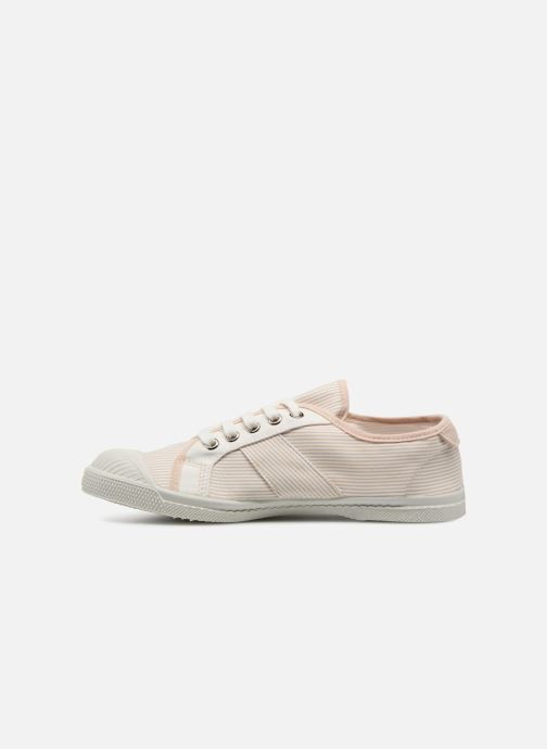 Trainers Bensimon Fines Rayures Beige front view