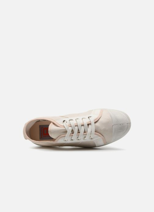 Trainers Bensimon Fines Rayures Beige view from the left